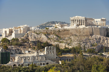 Acropolis view from Philapappos Monument