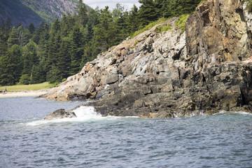 Jagged Coastline in Maine, USA