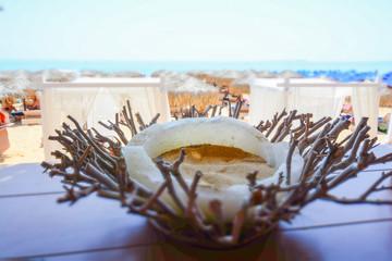 candleholder, beach, summer