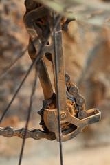 Dirty mountain bike derailleur