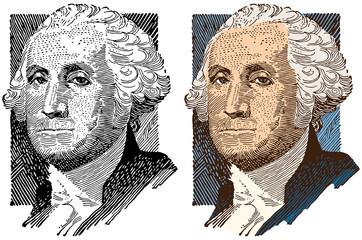 Portrait of George Washington Wall mural