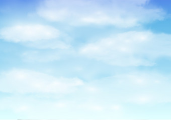 real bright beautiful cloud sky background vector