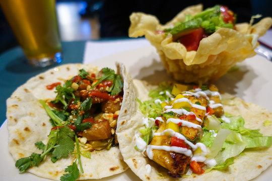 Soft Tacos and Crispy Taco Salad.