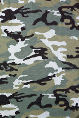 Military camouflage background, fabric texture.