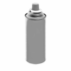 Monochrome spray can isolated on white background.
