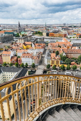View from the Church of Our Saviour in Copenhagen Denmark