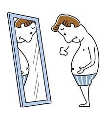 肥満に悩む中年男性