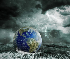 Global warming and apocalypse concept