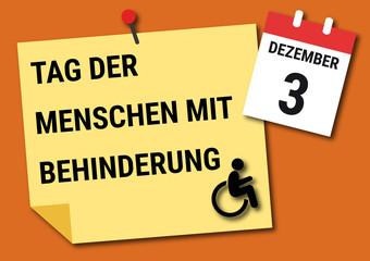 Tag der Menschen mit Behinderung am 3. Dezember