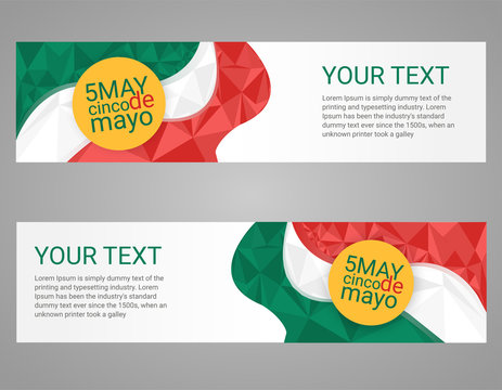 Cinco de Mayo poster. Greeting card mexican holiday