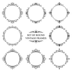 Set of eight decorative vintage frame