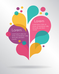 Abstract colorful speech bubbles with space for text