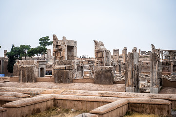Panorama of the ancient city of Persepolis, Iran. UNESCO World heritage site