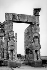 New gate of Persepolis, the ceremonial capital of the Achaemenid Empire. UNESCO World Heritage