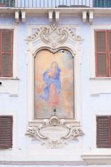 virgin mary mural