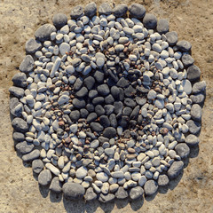Pebbles in circle