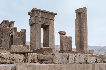 The Hundred colums hall in (Apadana of Xerxes) in the ancient city of Persepolis, Iran. UNESCO World heritage site