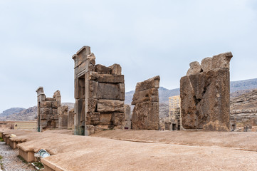 Ruins of the ancient city of Persepolis, Iran. UNESCO World heritage site