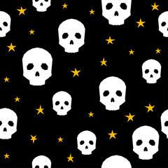 Happy halloween seamless pattern background.