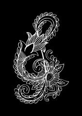 Music key doodle style. Hand drawing illustration
