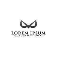 luxury owl eye logo design concept template