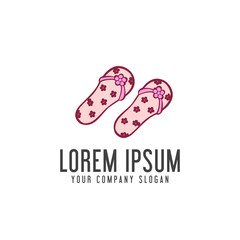 slippers woman logo. vacation design concept template