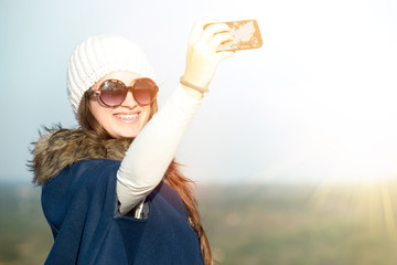 Young girl selfie