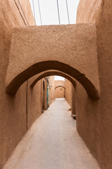 Old clay street in Yazd, Iran,Asia