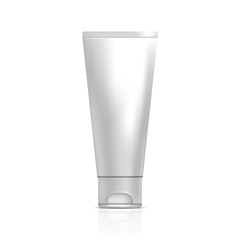 Tube of cream or gel. Illustration isolated on white background.