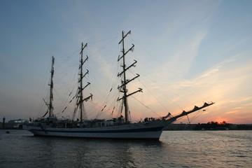 Sail on sunset