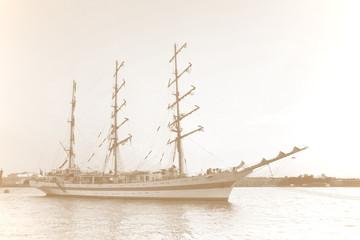 Vintage sailing ship.
