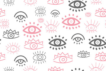 Hand drawn doodles eyes