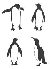Vector cute penguins set.