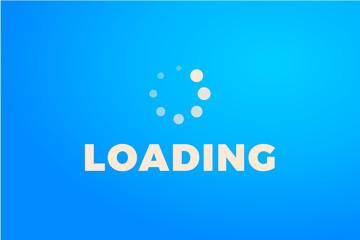 Loading icon. Progress bar icon isolated, minimal design. Vector illustration