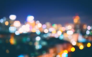 blur of night light city background