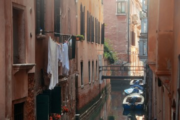 Venice boat alley