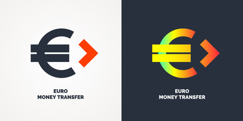 Modern money transfer logo and emblem.