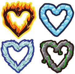 Vector elemental hearts