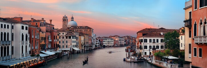 Venice grand canal sunset