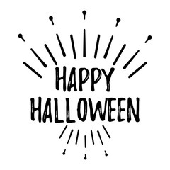 Happy Halloween Greeting Card. Halloween Poster and Banner on White Background.