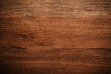 Old grunge dark textured wooden background , The surface of the old brown wood texture