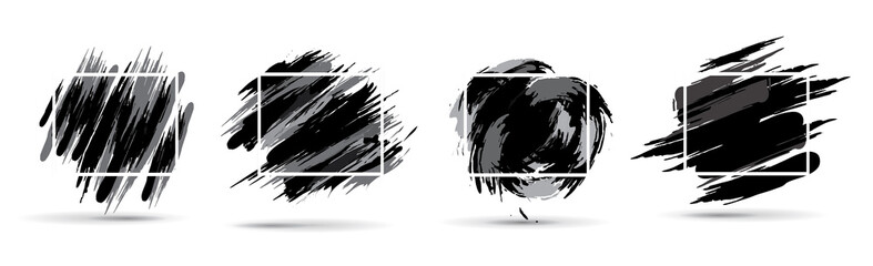 Vector black and white graphics. Hipster frames