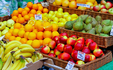 Fruit variety in baskets