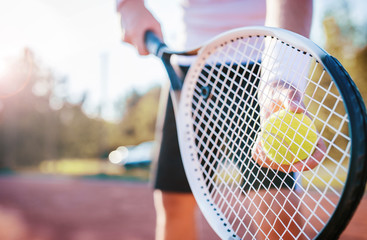 Tennis player. Sport, recreation concept