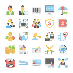 Business Flat Colored Icons 4
