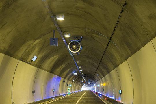 Ventilation fan in the modern tunnel construction.