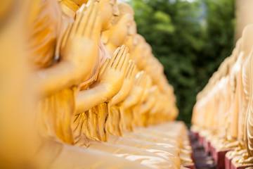 Hands of buddha statue