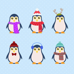 illustration penguins