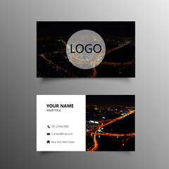 beautiful picture business card template