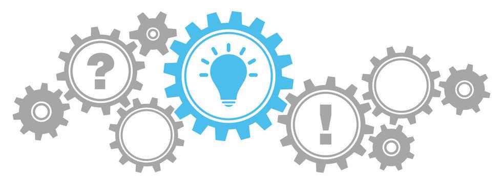 Gears Border Question, Idea & Answer Grey/Blue
